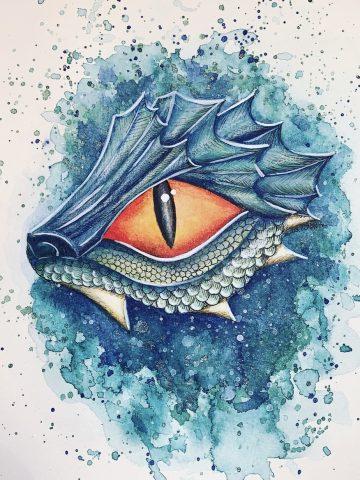 Drachen Aquarell