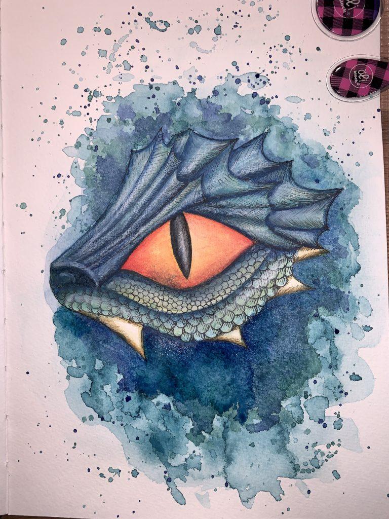 Drachen Aquarell - Hintergrund