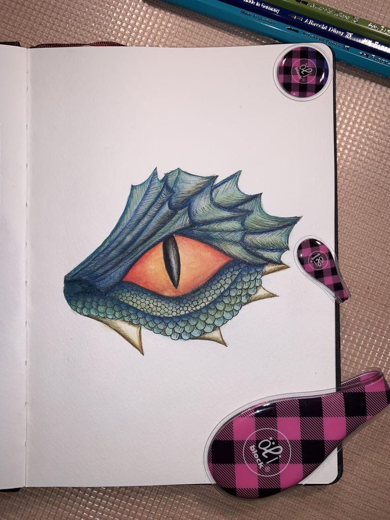 Drachen-Aquarell - Drachenkopf
